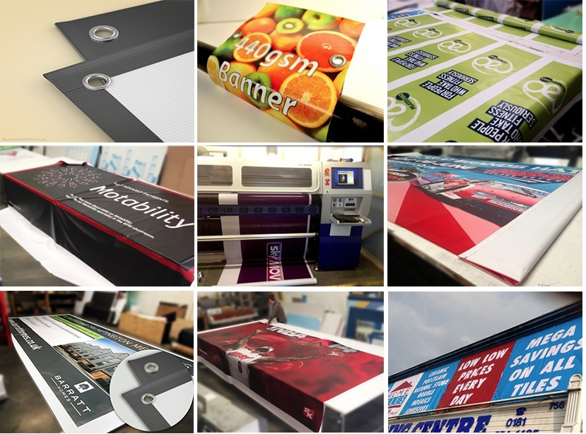 Large format printing company banner printing vinyl stickers print company mesh banners